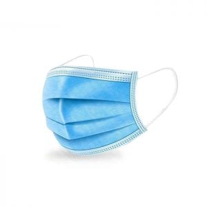Picture of a blue disposable face mask