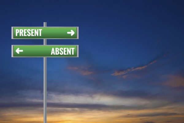 to indicate abscence