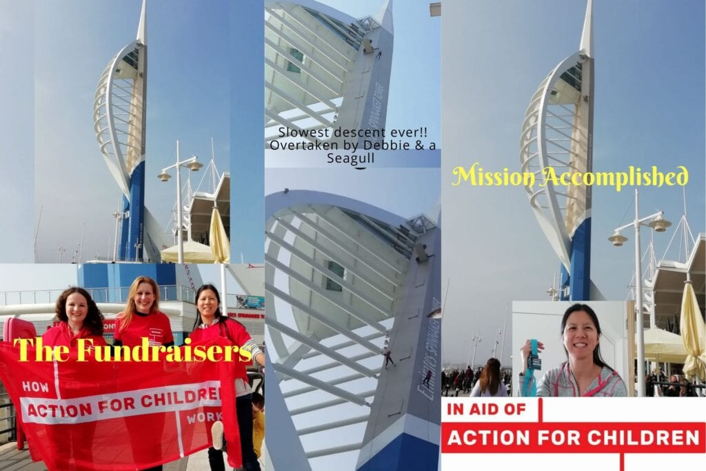 Spinnaker tower abseil for charity