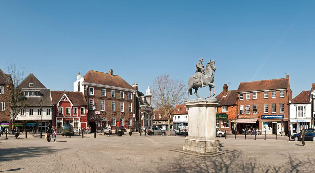 the market square in petersfield