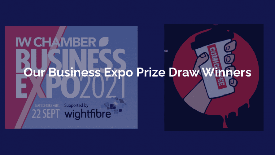 IWBIZEXPO Prize draw winners Wheeler and Lai