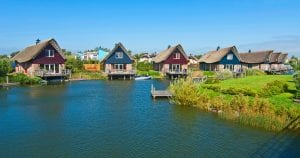 Group of holiday homes by a lake